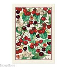 Michel Design Works Cotton Kitchen Tea Towel Black Cherry - NEW