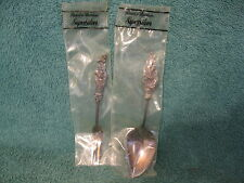 Reed & Barton Silver Plated Condiment Fork & Spoon Set (item# S772)