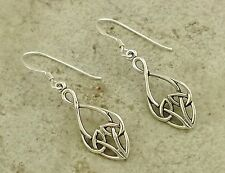 CUTE  .925 STERLING SILVER CELTIC KNOT DANGLING EARRINGS  style# e0926