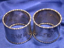 HEAVY BRITISH STERLING NAPKIN RINGS - EXCELLENT ESTATE CONDITION