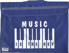Piano Keyboard Music School Bag Case Holdall BLUE Musician Gift
