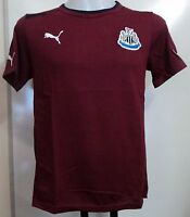 NEWCASTLE UNITED BURGUNDY COTTON TEE BY PUMA SIZE MEDIUM BRAND NEW WITH TAGS