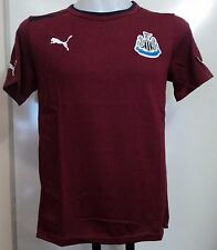 NEWCASTLE UNITED BURGUNDY COTTON TEE BY PUMA SIZE LARGE BRAND NEW WITH TAGS