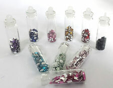 10 Assorted Colour Nail Art Craft Rhinestone Gems Crystal Decorations For Nails
