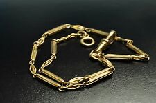 Very beautiful antique 14k gold filled pocket watch single chain fob13.5Inch