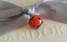 "Genuine Pandora ""Red Hot Hearts"" Charm Silver Bead with Red Enamel (790436ER)"