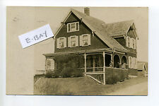 PM Surfside Nantucket MA Mass RPPC real photo woman on porch, cottage, 1910