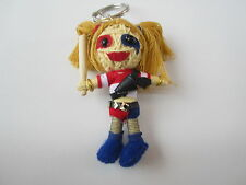 Harley Quinn SUICIDE SQUAD Voodoo String Doll Keychain Ornament Accessory