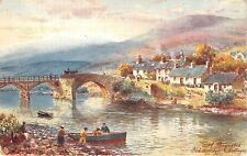 BF34094 the old bridge uk painting  front/back scan
