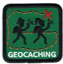 Girl Boy Cub GEO CACHING green Fun Patches Crests Badges SCOUT GUIDE Geocaching