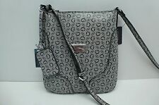 GUESS Woman's XBody Messenger Mini Bag *Black Multi w/G Print *Shoulder Purse