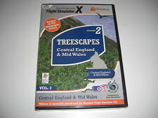 TREESCAPES Vol 2 Central England  Mid Wales Pc Add-On Flight Simulator X FSX NEW