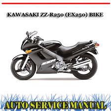KAWASAKI ZZ-R250 (EX250) ZZR 250 BIKE WORKSHOP SERVICE REPAIR MANUAL ~ DVD