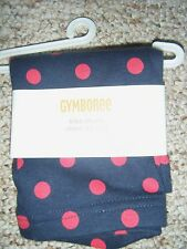 gymboree girls homecoming kitty bike shorts navy blue red dots nwt 3t biker