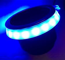 "BLUE GLOWING LED CUP HOLDER RING, FITS 3 5/8"" CUP, BOAT CUP LED"