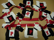 handmade Christmas scotty dog terrier bunting garland decoration personalised