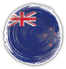 New Zealand Flag Brushstroke Car Bumper Sticker Decal 5'' x 5''