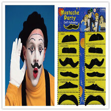 12Pcs Fake Moustache Stick-on Tash Mustache Fancy Dress  Halloween Xmas Party