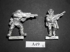 Warhammer 40K Imperial Guard Metal Cadian Troopers With Las Rifles x2 A 49