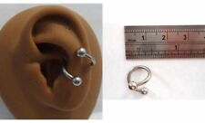 Surgical Stainless Steel Twist Wrap Conch Ring Hoop 14 gauge 14g