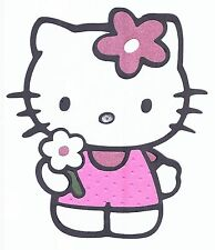 HELLO KITTY With FLOWER Cricut Assembled Die Cut for Scrapbooking Cardmaking