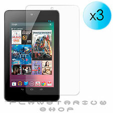 3X GOOGLE NEXUS 7 1ST GENERATION CLEAR LCD SCREEN PROTECTORS COVER FILM & CLOTH