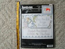 Janlynn Counted Cross Stitch Victorian Birth Announcement #56-96 NIP