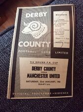 Derby County v Manchester United 1965/66 FA Cup Programme
