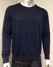 NEW Nautica Men's Solid Crew Neck Long Sleeve Sweater Navy Blue Medium M!!!