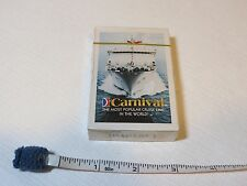 Carnival Cruise lines RARE vintage playing cards NOS line world ship deck travel