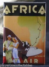 "Africa By Air Vintage Travel Poster 2"" x 3"" Fridge / Locker Magnet."