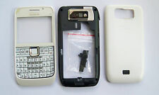 White housing fascia facia cover case faceplate for nokia e63 with keypad