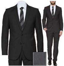 NWT $795 Hugo Boss Red Label Slim Fit Super 100 Black Business Suit 44L