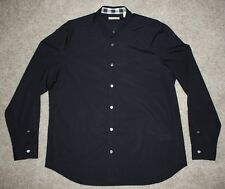 S - Men's BURBERRY BRIT 'Cambridge Aboyd' Trim Fit Sport Shirt - XL (Black)