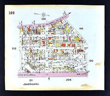 1929 Brooklyn Map Gravesend Harway Stillwell Canal Egolf  Street New York City