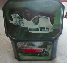 Shell Classic Cars Hinged Tin Box with photos of older cars