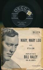 """BILL HALEY 45 TOURS 7"""" USA IT'S A SIN WITH ORIGINAL SLEEVE"""