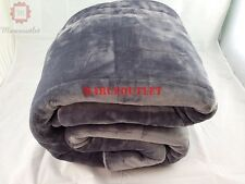 Vellux Plush Luxury KING Bed Blanket Gray