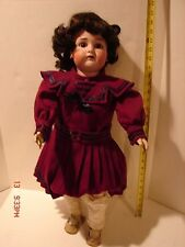 VINTAGE 26 INCH DOLL BISQUE SIMON & HALBIG K & R JOINTED COMPOSITION BODY WOW!