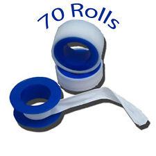 """Teflon® Tape 70 Rolls Industrial 3/4"""" x 520"""": Plumbers Tape $0.69/ Roll"""