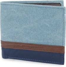 High Sierra Men Blue Canvas Wallet (4 Card Slots)