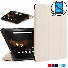 White Folding Smart Case Cover Acer Iconia Tab 10 A3-A40 Screen Prot Stylus