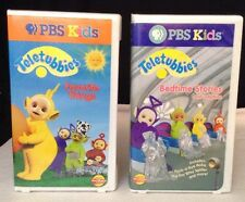 Teletubbies LOT of 2 VHS Bedtime Stories & Lullabies ++ Favorite Things (vol 4)