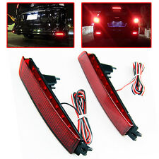 2 x LED Bumper Reflector Red Lens Tail Brake Light for Nissan Murano FX35 FX50