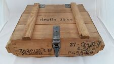 Ammo Crate Wooden Box Military Wood Crate Cartridge and Ammunition - Lockable