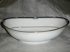"NORITAKE IMPRESSION CHINA P576 W/ GOLD TRIM  10"" OVAL SERVING BOWL    RARE"