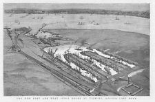 TILBURY View of the New East and West India Docks - Antique Print 1886