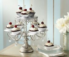 Wedding Party Round Cake Stand Cake and Cupcake  Display faux crystal beads