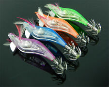 Newest LED Light Shrimp Fishing Lures Prawn Baits Squid Jigs Hooks Flash CO