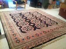 Gorgeous Hand-Knotted Persian Rug, 8x9 (Black/Rose/Grey)